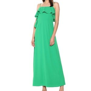 Monique Lhuillier Women's Crepe Ruffle Maxi Gown